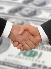 Handshake when law firm approved for line of credit financing and rapid funding